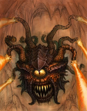 Creatures From Advanced Dungeons And Dragons - 4E Beholder ...